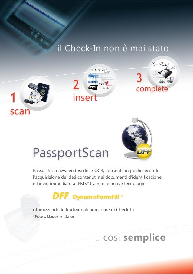 Passport scan - il Check - in immediato