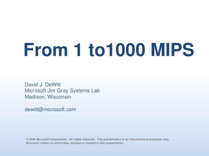 PASS Summit 2009 Keynote Dave DeWitt