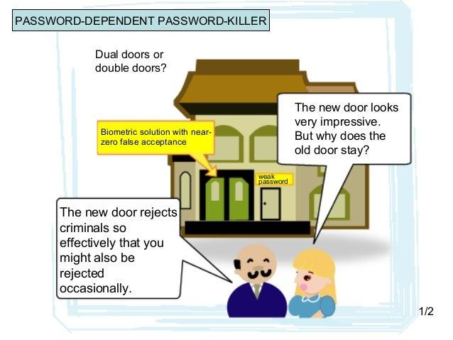 Dual doors or double doors? Biometric solution with near- zero false acceptance weak password The new door looks very impr...