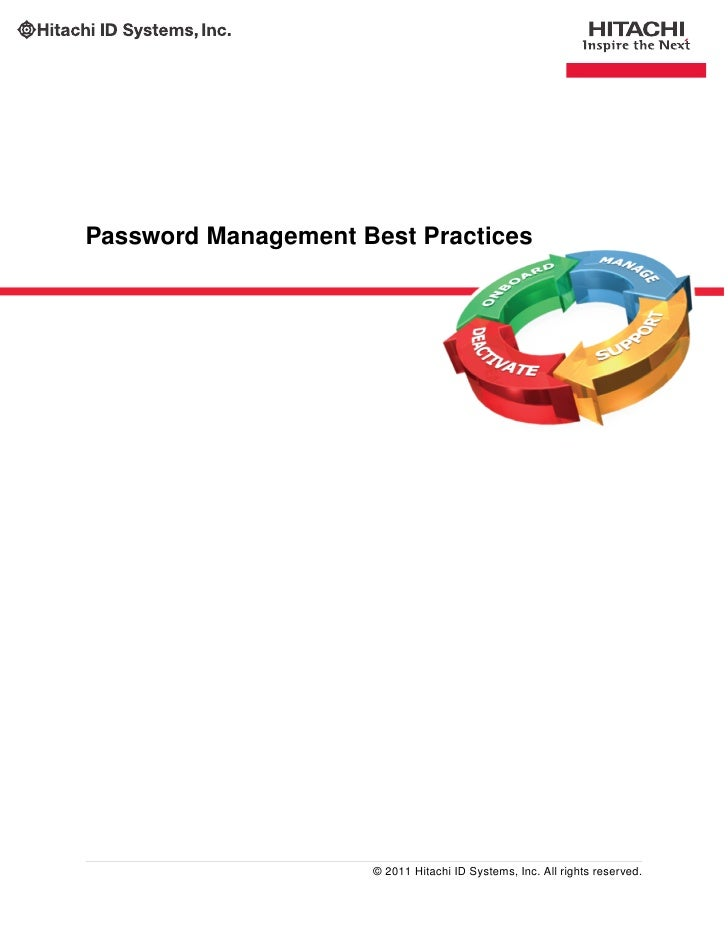 Enterprise Password Management Best Practices