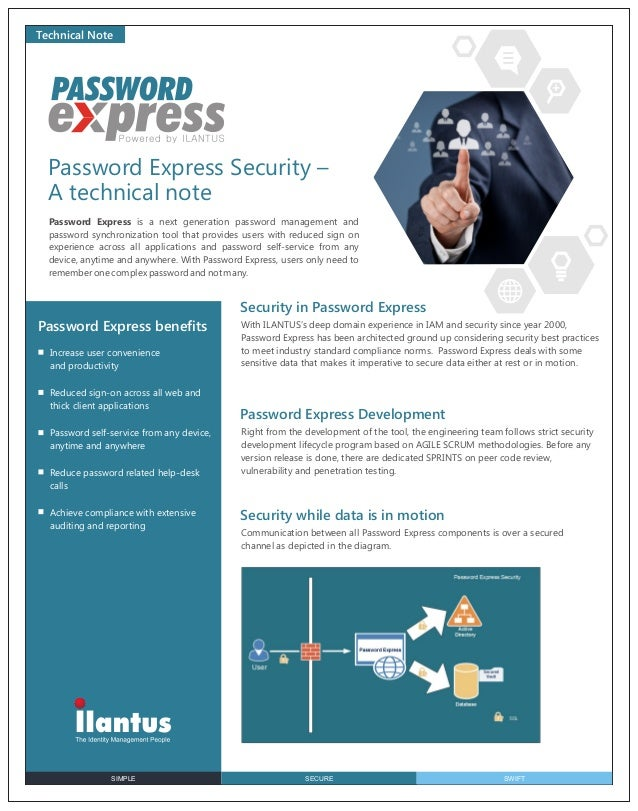 Technical Note  Password Express Security – A technical note Password Express is a next generation password management and...