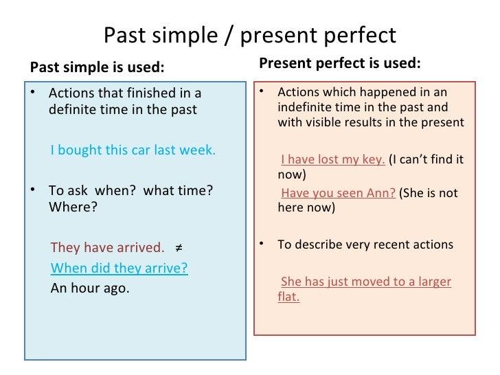 present past таблицы simple perfect