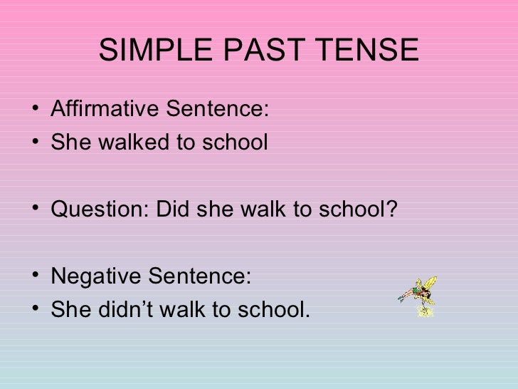 Past Tense And Past Continuous