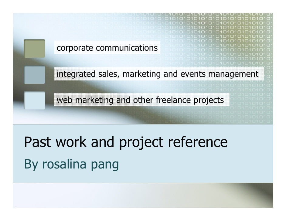 corporate communications        integrated sales, marketing and events management        web marketing and other freelance...