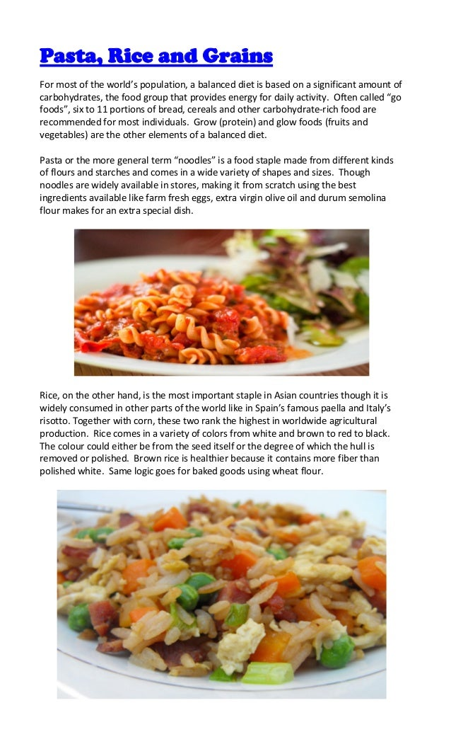 Pasta/Rice/Grains