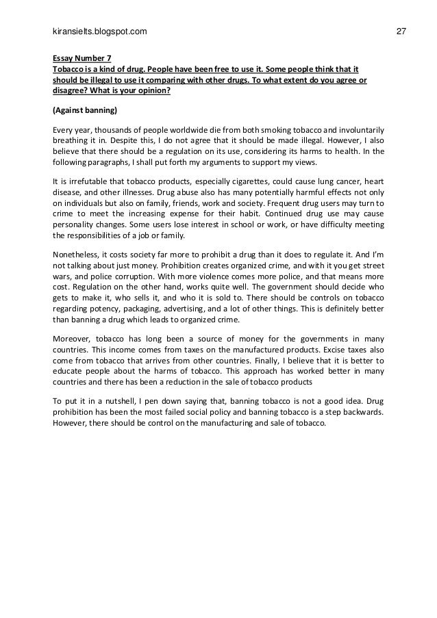 argument essay about smoking ban