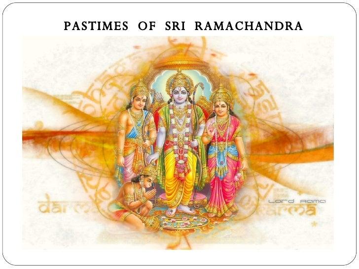 Pastimes Of Sri Ramachandra