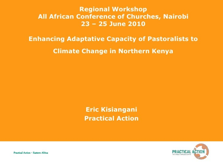 Regional Workshop                        All African Conference of Churches, Nairobi                                     2...
