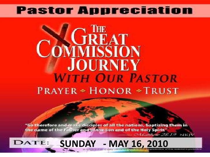 Pastor Appreciation Day 2010