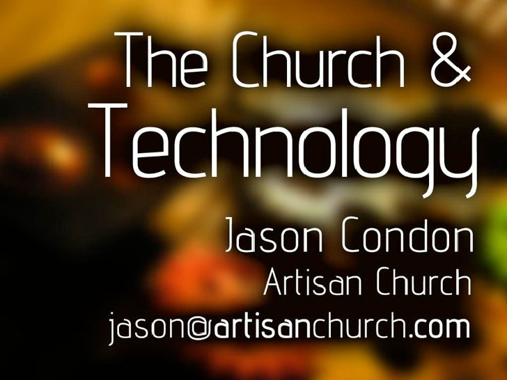 PastorSpeak: The Church and Technology