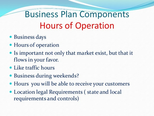 Operational plan business plan