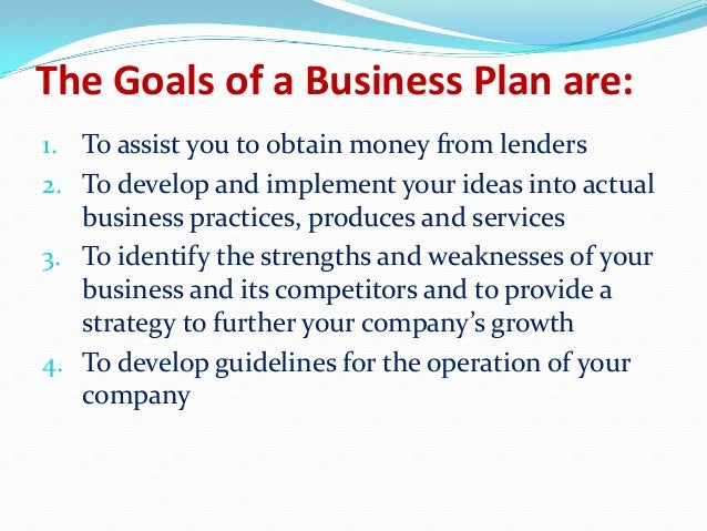 Business plan objective