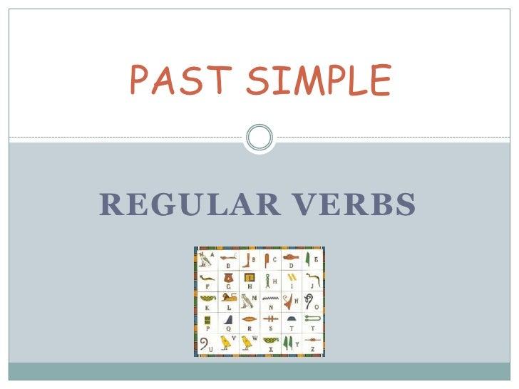 Past simple - Regular verbs