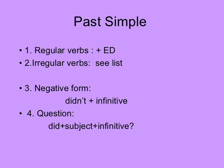 Past simple continuous presentation