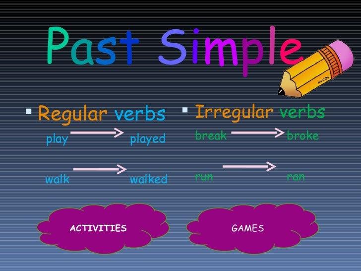 Past simple ppt mercedes
