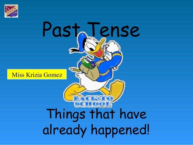 Past tense 3
