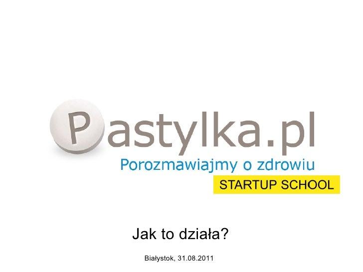 Adriana Pawłowska - Pastylka.pl - Pastylka.pl i Startup School - jak to działa?