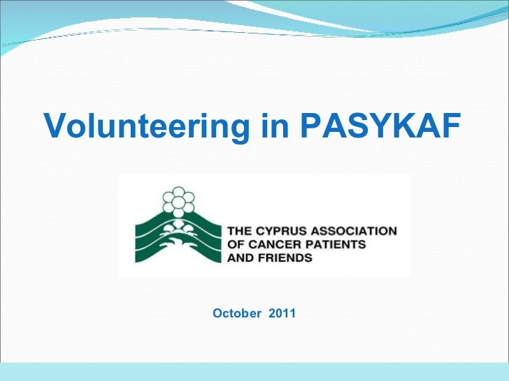Volunteering in PASYKAF October   201 1