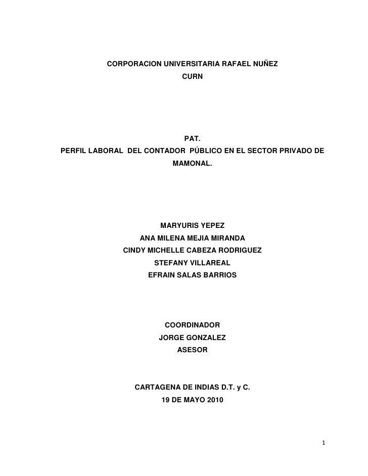 CORPORACION UNIVERSITARIA RAFAEL NUÑEZ                            CURN                                 PAT. PERFIL LABORAL...