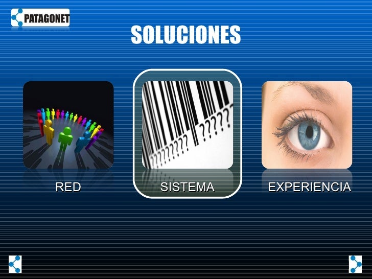SOLUCIONES RED SISTEMA EXPERIENCIA