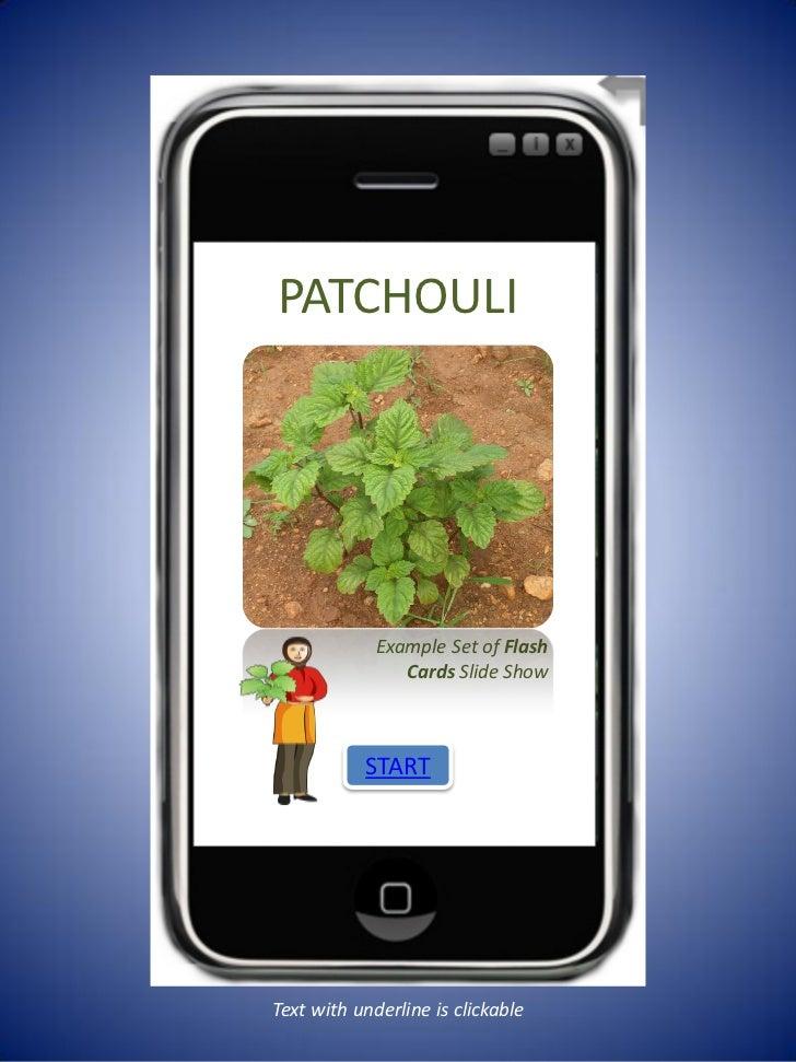 Patchouli livelihoods info for bop mobiles
