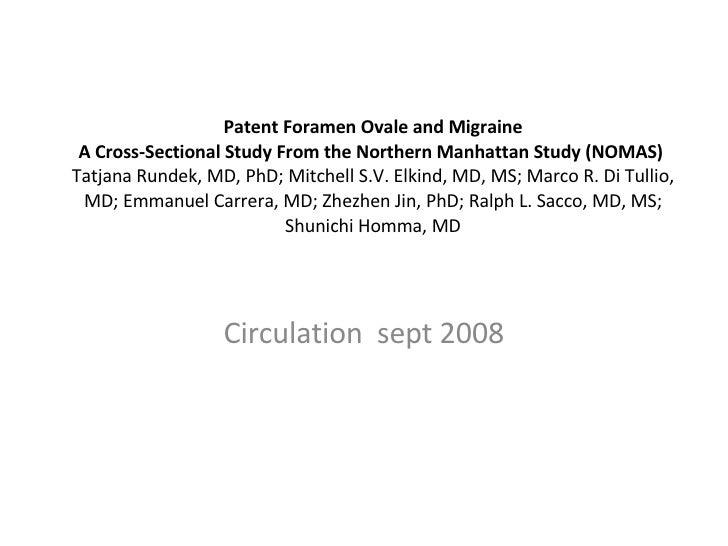 Patent Foramen Ovale And Migraine