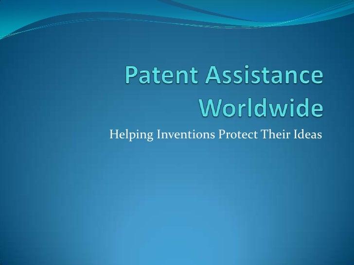 Patent assistance worldwide