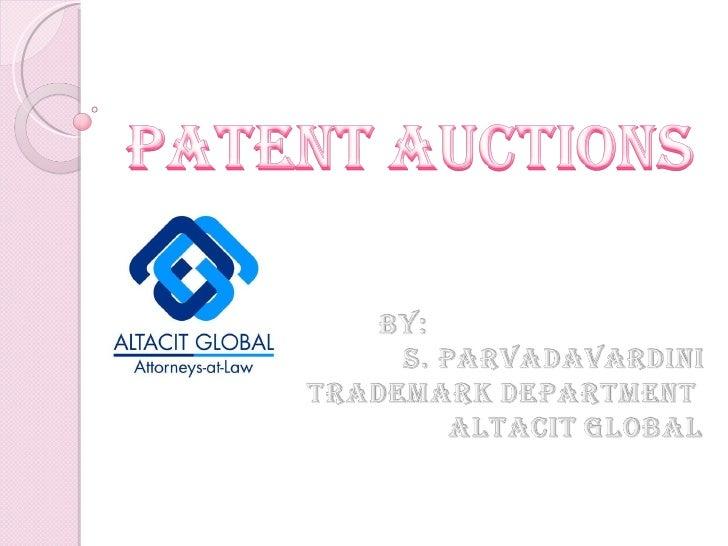 Patent auctions  ppt