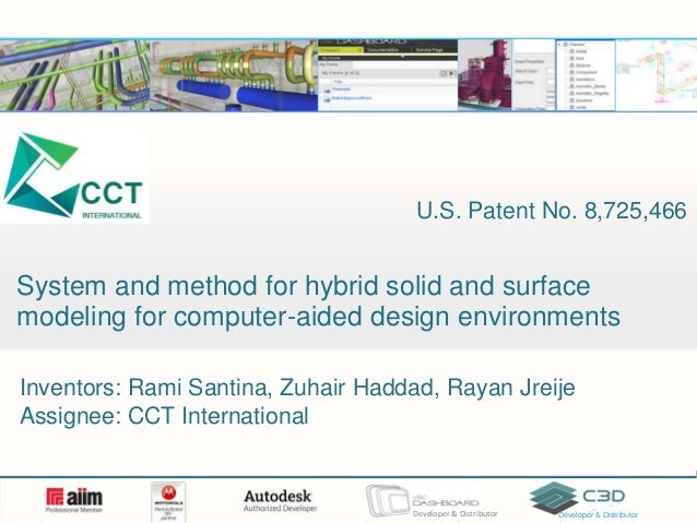 Patent brief: System and method for hybrid solid and surface modeling for computer-aided design environments