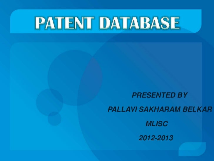PRESENTED BYPALLAVI SAKHARAM BELKAR        MLISC      2012-2013