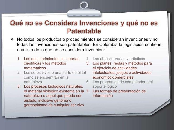 invenciones no patentables mexico