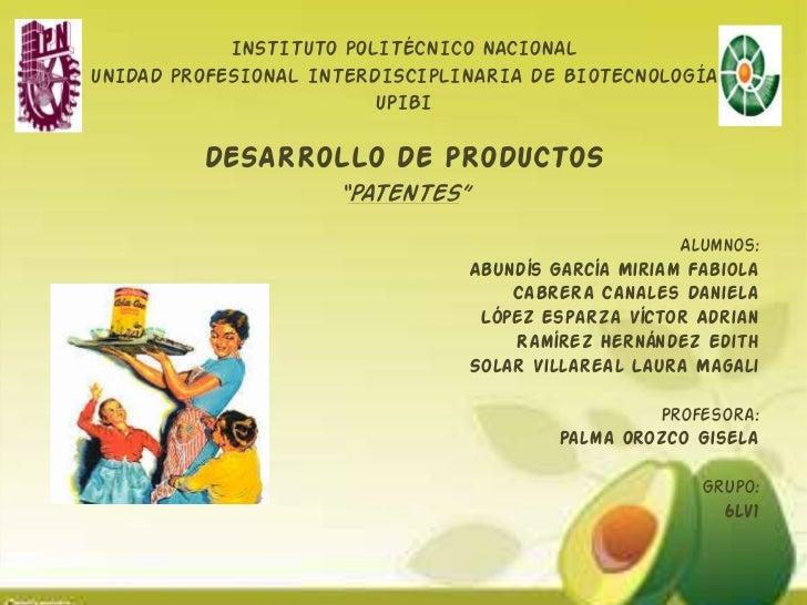 INSTITUTO POLITÉCNICO NACIONALUNIDAD PROFESIONAL INTERDISCIPLINARIA DE BIOTECNOLOGÍA                         UPIBI        ...