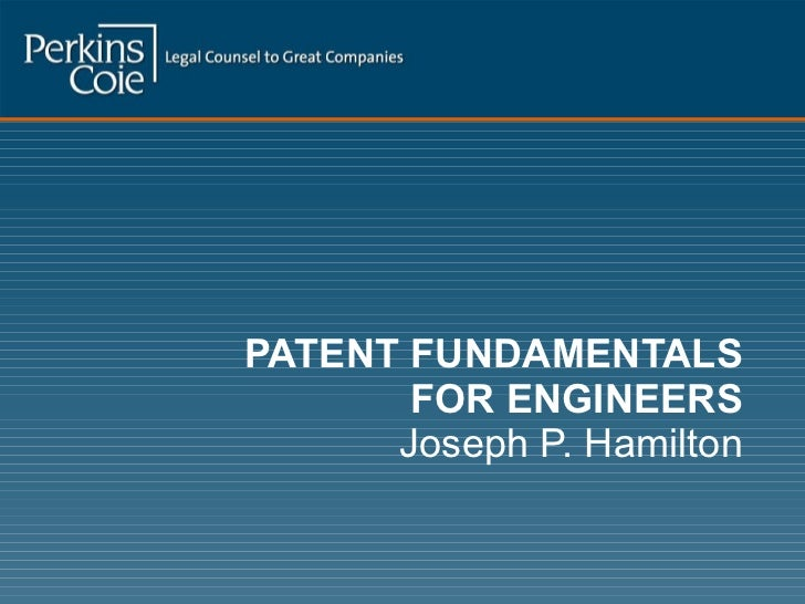 Patent Fundamentals for Engineers