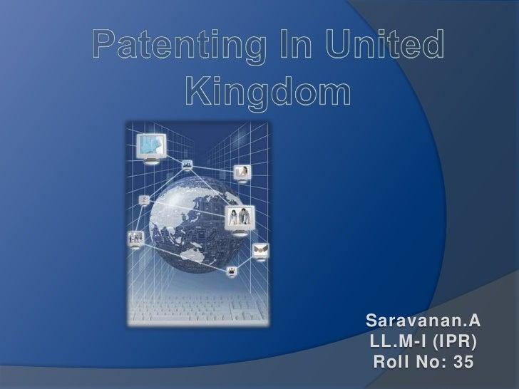 Saravanan.ALL.M-I (IPR) Roll No: 35
