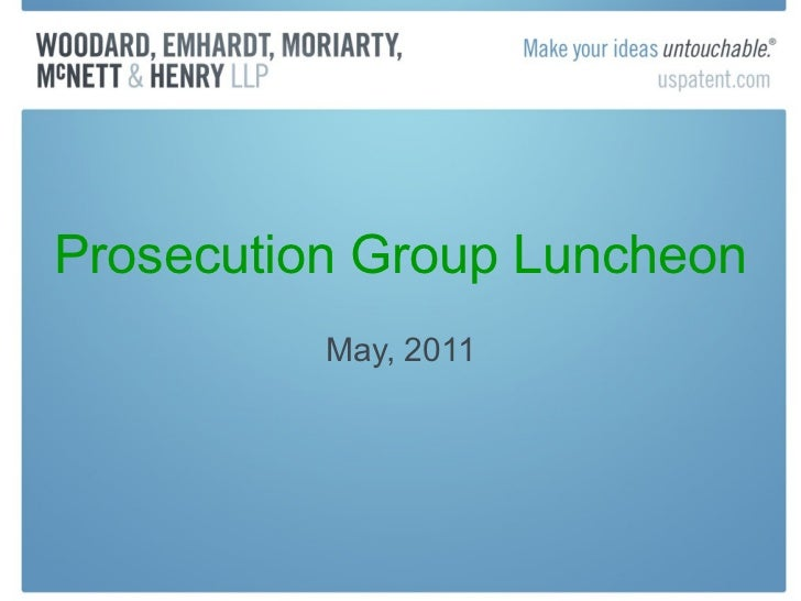 Prosecution Group Luncheon May, 2011