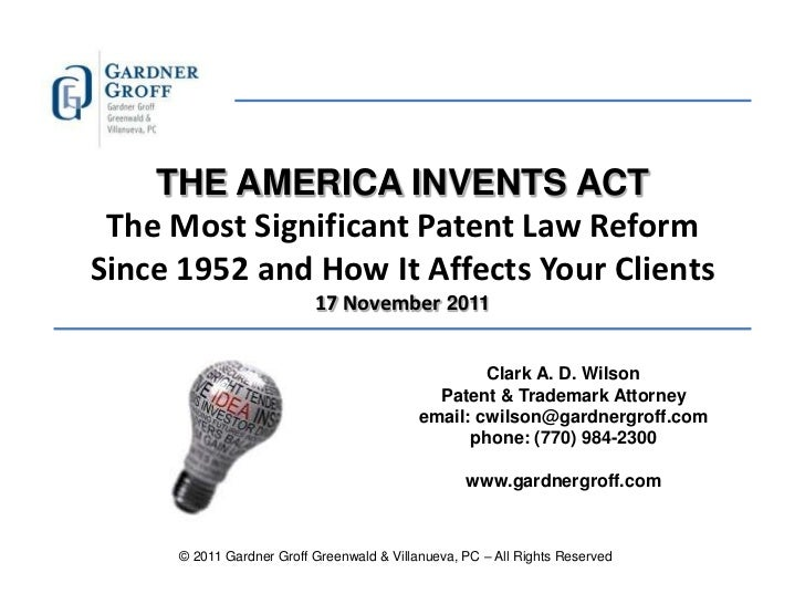 USA Patent Reform