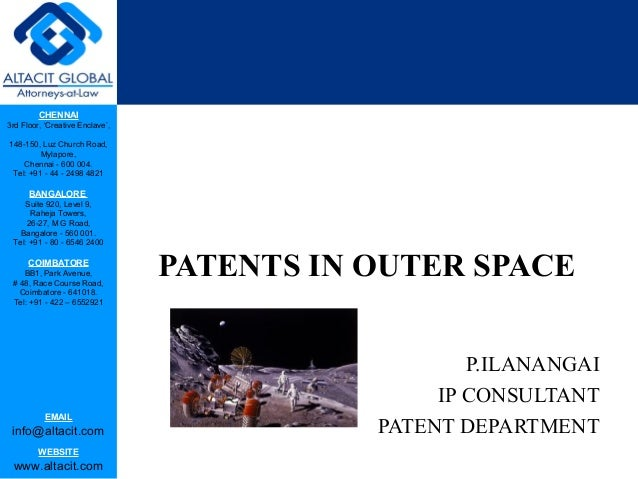 Patents in outer space