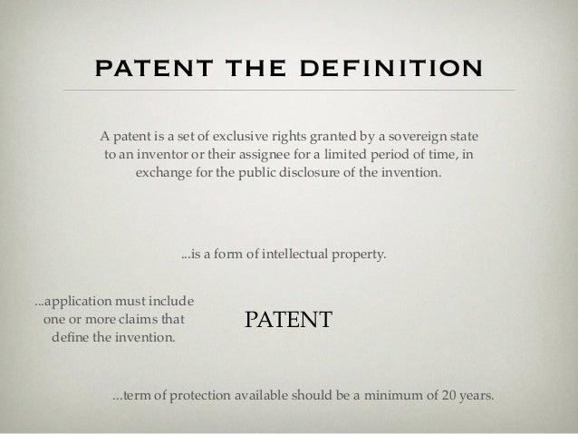 Define Intellectual Property