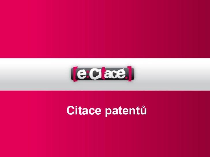 Citace patentů