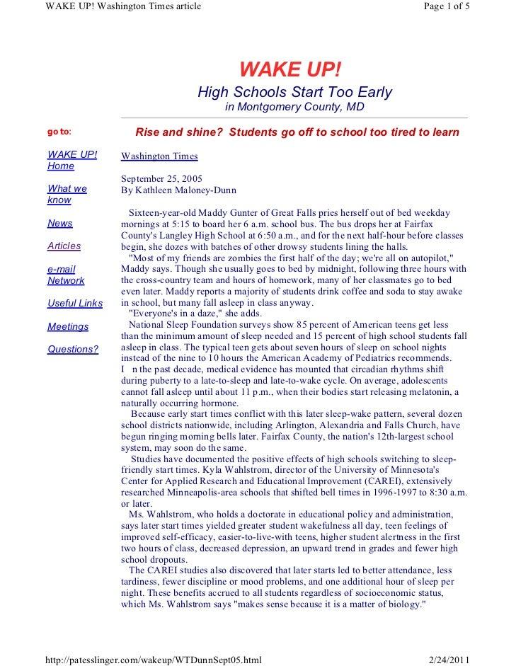 Patesslinger.com wakeup wt_dunn_sept05.html