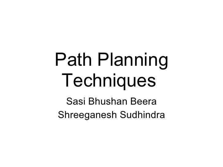 Path Planning And Navigation