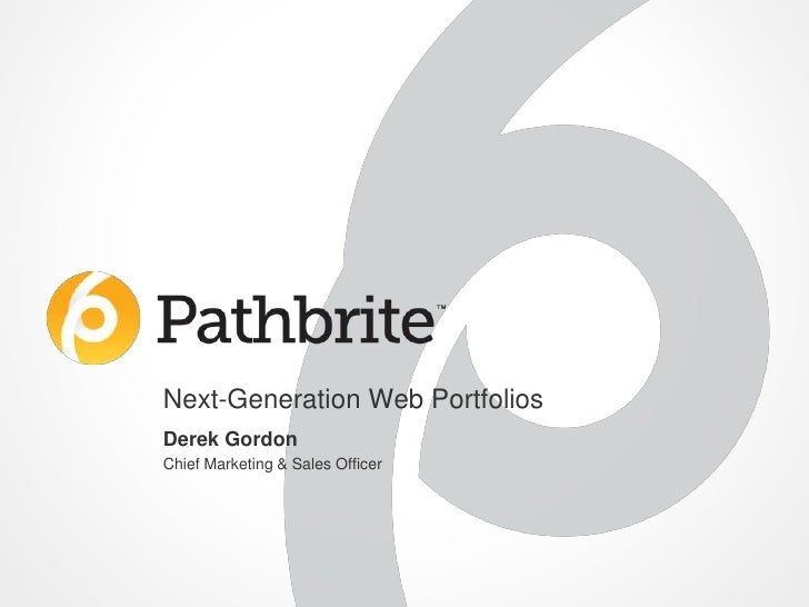 Pathbrite Overview 2012 07-19