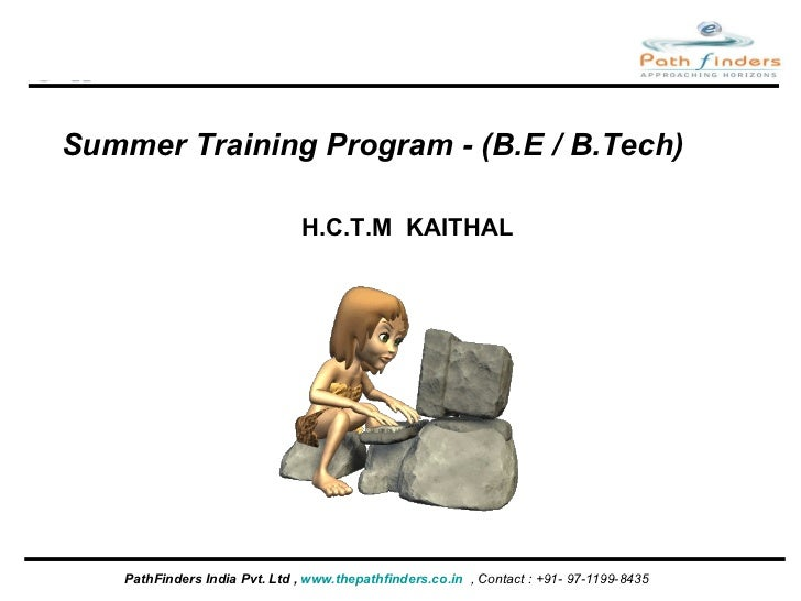 Pathfinders summer training_ppt