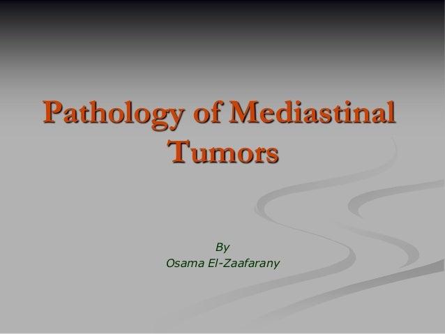 Pathology of mediastinal masses