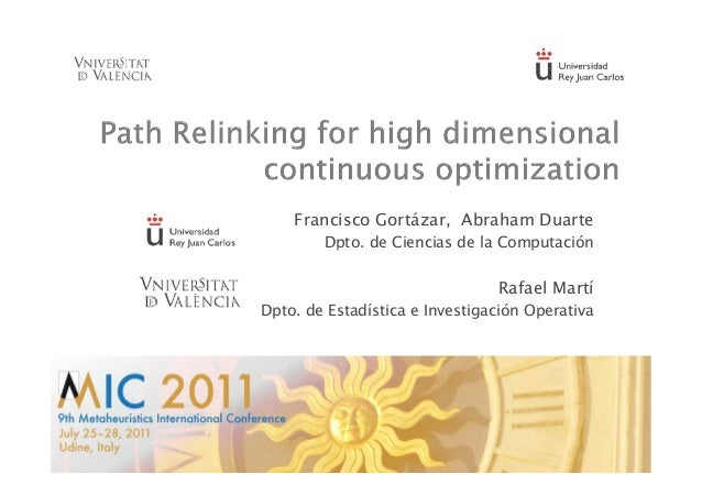 Path relinking for high dimensional continuous optimization