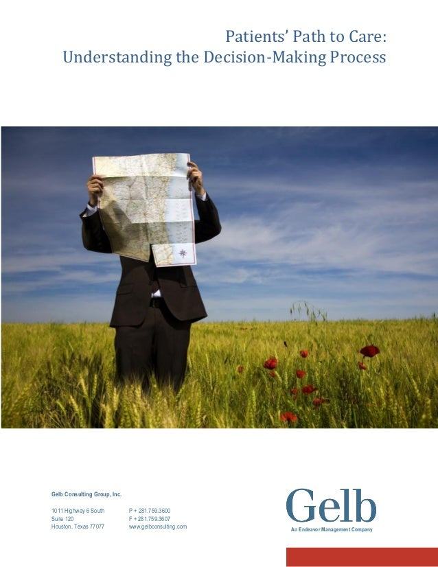 Patients' Path to Care: Understanding the Decision-Making Process  Gelb Consulting Group, Inc. 1011 Highway 6 South Suite ...