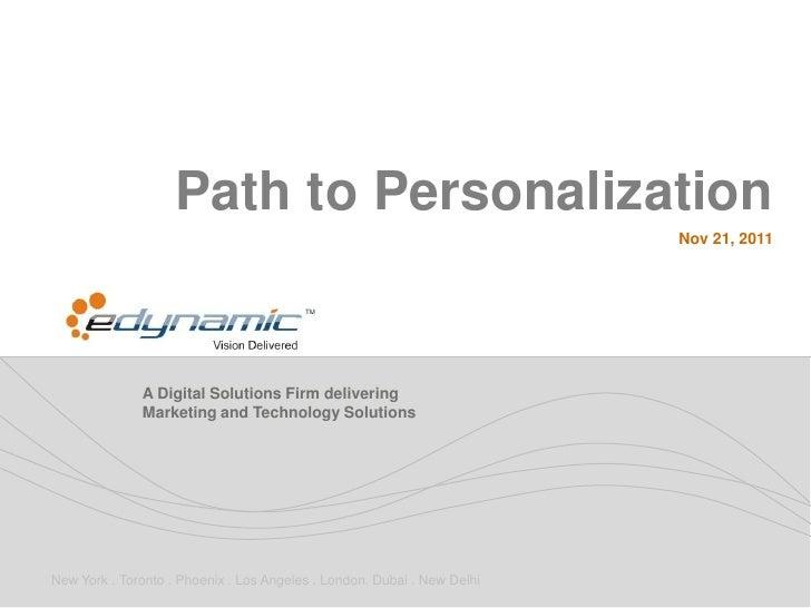 Path to Personalization                                                                         Nov 21, 2011              ...