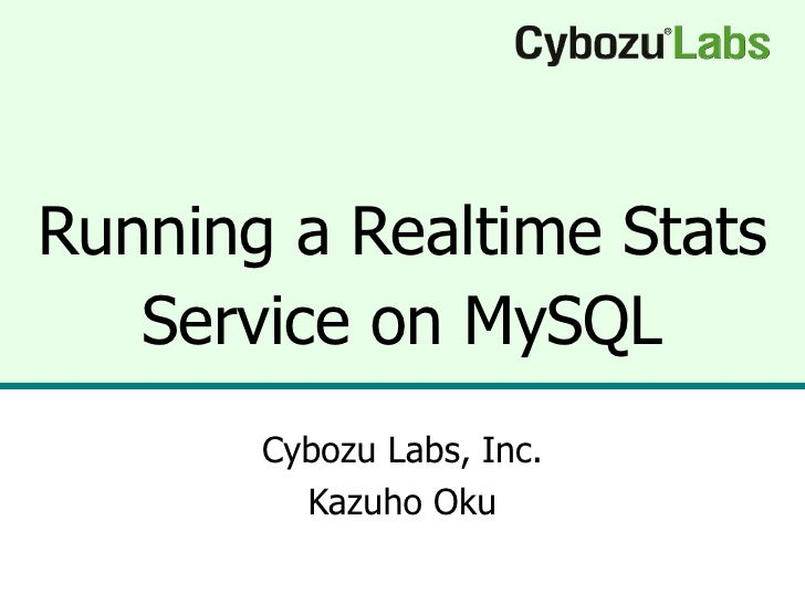 Running a Realtime Stats Service on MySQL