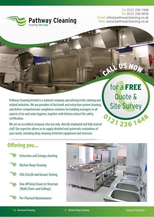 Commercial Kitchen Cleaning Flyers