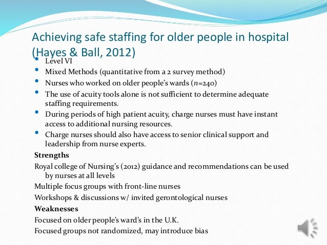 Safe nurse staffing essay